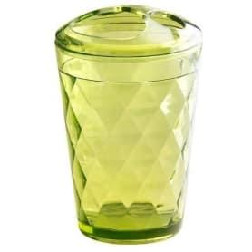 Стакан для зубных щёток настольный Verran «Primavera» акрил цвет зелёный