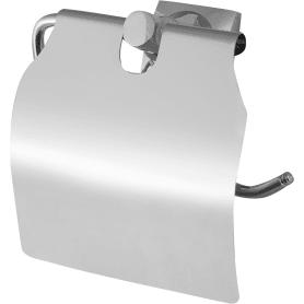 Держатель для туалетной бумаги Grampus «Ocean» с крышкой цвет хром