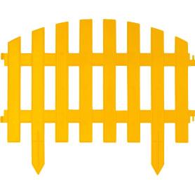 Штакетник «Волна» 3 м цвет жёлтый