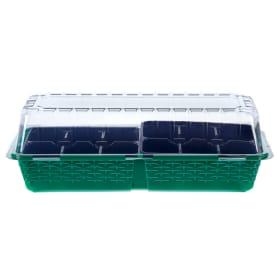 Минипарник 12 ячеек 2 вставки зелёный