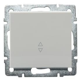 Выключатель Lezard Rain 1 клавиша проходной цвет белый