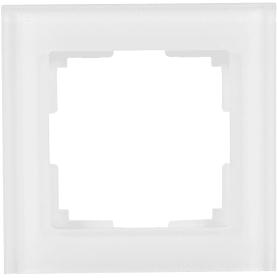 Рамка для розеток и выключателей Werkel Favorit 1 пост, стекло, цвет белый