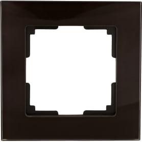 Рамка Werkel Favorit, 1 пост, цвет коричневый