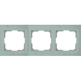 Рамка для розеток и выключателей Favorit 3 поста цвет прозрачный
