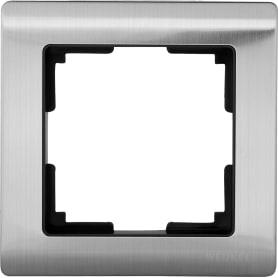 Рамка Werkel Metallic, 1 пост, цвет глянцевый никель