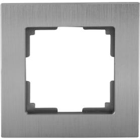 Рамка для розеток и выключателей Werkel Aluminium 1 пост, металл, цвет алюминий
