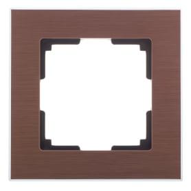 Рамка для розеток и выключателей Werkel Aluminium 1 пост цвет коричневый