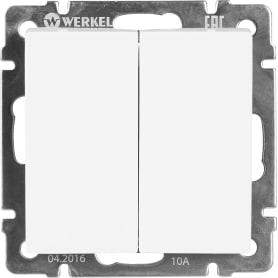 Переключатель Werkel, 2 клавиши, цвет белый