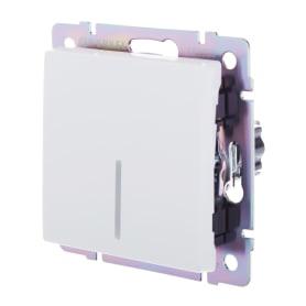 Выключатель проходной Werkel, 1 клавиши, с подсветкой, цвет белый
