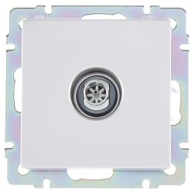 ТВ-розетка Werkel, оконечная, цвет серебро