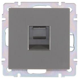 Розетка компьютерная встраиваемая Werkel RJ45, цвет серо-коричневый