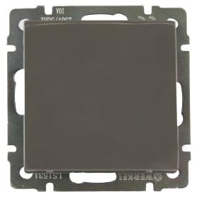 Выключатель встраиваемый Werkel 1 клавиша, цвет серо-коричневый
