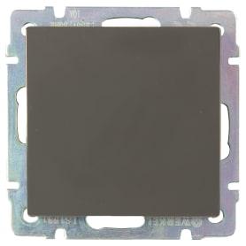 Выключатель проходной встраиваемый Werkel 1 клавиша, цвет серо-коричневый