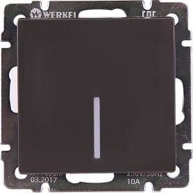 Выключатель Werkel 1 клавиша с подсветкой цвет серо-коричневый