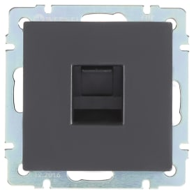 Телефонная розетка встраиваемая Werkel RJ11, цвет черный