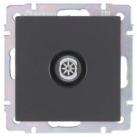 ТВ-розетка Werkel, оконечная, цвет черный