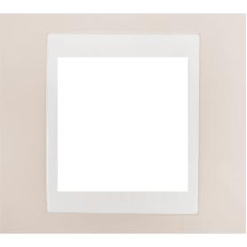 Рамка для розеток и выключателей Schneider Electric Unica 1 пост, цвет песчаный/белый