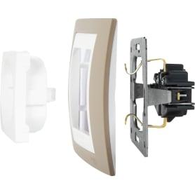 Рамка для розеток и выключателей Schneider Electric Unica 1 пост, цвет коричневый/белый