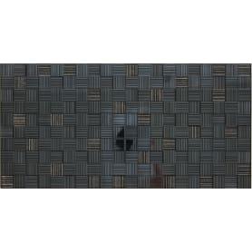 Вставка «Пиксел» 25х50 см цвет черный