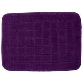Коврик для ванной комнаты «Квадро» 40х60 см цвет фиолетовый