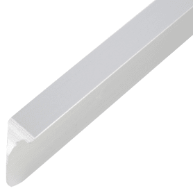 Планка для столешницы угловая 2.6 см цвет матовый хром