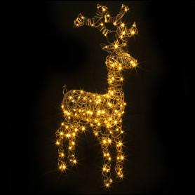 Электрогирлянда-фигура «Олень» 160 LED ламп, 98 см, коричневый цвет, для улицы
