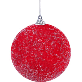 Шар ёлочный обсыпанный, 6 см, цвет красный