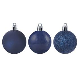 Набор ёлочных шаров, 5 см, 12 шт, в тубе, цвет синий