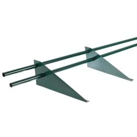 Снегозадержатель для металлической кровли трубчатый 3 м RAL 6005 зеленый