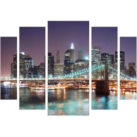 Модульная картина «Бруклинский мост» 80х115 см