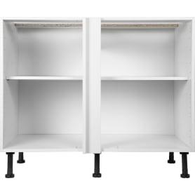 Каркас напольный угловой 100x70x56 см, ЛДСП, цвет белый