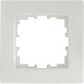Рамка Lexman Виктория, сферическая, 1 пост, цвет белый