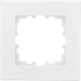 Рамка для розеток и выключателей Lexman Виктория плоская, 1 пост, цвет белый