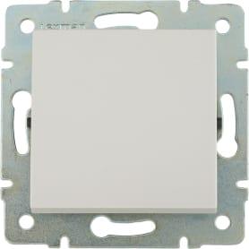 Выключатель встраиваемый Lexman Виктория 1 клавиша, цвет белый