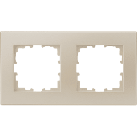 Рамка для розеток и выключателей Lexman Виктория плоская, 2 поста, цвет жемчужно-белый