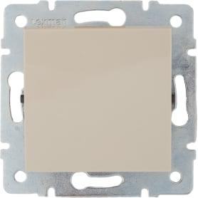 Выключатель встраиваемый Lexman Виктория 1 клавиша, цвет бежевый