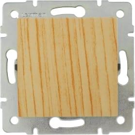 Выключатель Lexman Виктория, 1 клавиша, цвет дуб беленый матовый