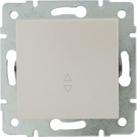 Выключатель проходной Lexman Виктория, 1 клавиша, цвет жемчужно-белый матовый