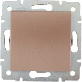 Выключатель проходной Lexman Виктория, 1 клавиша, цвет бронза матовый