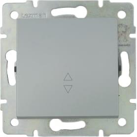 Выключатель проходной встраиваемый Lexman Виктория 1 клавиша, цвет серебро матовый