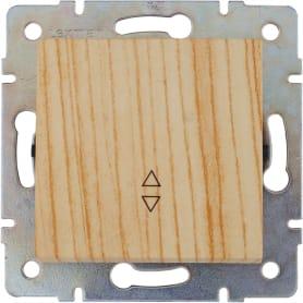 Выключатель проходной Lexman Виктория, 1 клавиша, цвет дуб беленый матовый