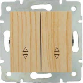 Выключатель Lexman Виктория, 2 клавиши, цвет дуб беленый матовый