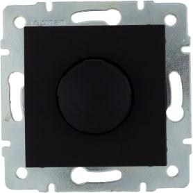 Диммер встраиваемый Lexman Виктория 1000 Вт цвет черный бархат матовый