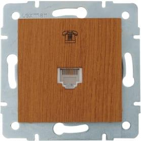 Телефонная розетка Lexman Виктория цвет дуб классический матовый