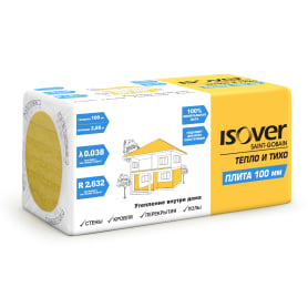 Утеплитель Isover Плита 100 мм 2.88 м²