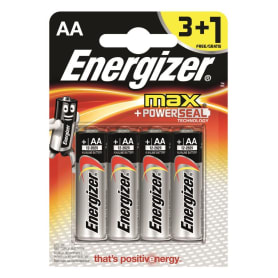 Батарейка алкалиновая Energizer Max AA/LR06 3+1 шт.