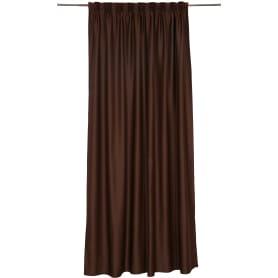 Штора на ленте «Ночь» 200x280 см цвет шоколадный