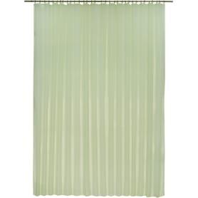 Тюль на ленте 300х280 см вуаль цвет зелёный