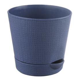 Горшок цветочный «Партер» D11, 0, 7л., пластик, Серый / Серебристый
