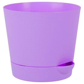 Горшок цветочный «Партер» D11, 0, 7л., пластик, Фиолетовый, Розовый